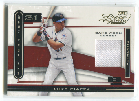 2003 Playoff Piece Of The Game #POG-69 Mike Piazza Jersey Card