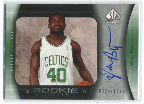 2005 Upper Deck SP Authentic #126 Will Bynum Autographed Card
