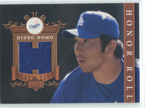2003 Upper Deck Honor Roll Dean`s List #DL-HN Hideo Nomo Jersey Card