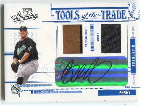 2005 Donruss Tools Of The Trade #tt-56 Brad Penny Autographed Card 62/75