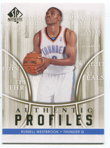 2008-09 SP Authentic Profiles #49 Russell Westbrook Card