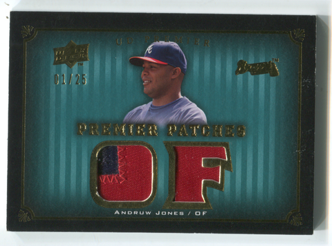 2008 Upper Deck Premier Patches #PP2-AJ Andruw Jones Card 01/25