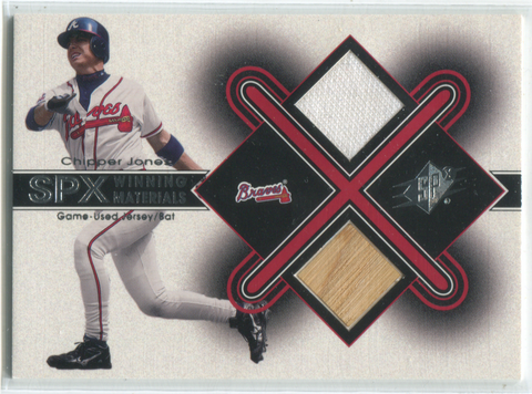 2001 SPX Winning Materials #CJ2 Chipper Jones