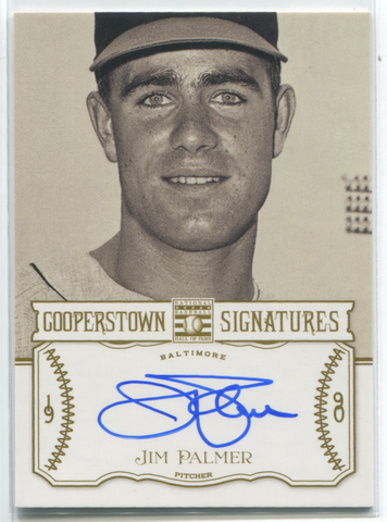 2013 Panini Cooperstown #HOF-PAL Jim Palmer Autographed Card 129/400