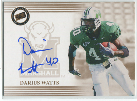 2004 Press Pass Autographed Card Darius Watts