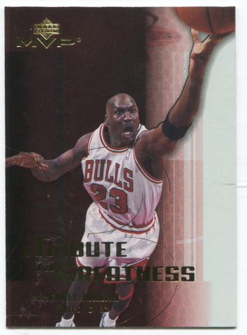2003 Upper Deck Tribute To Greatness #MJ1 Michael Jordan Card