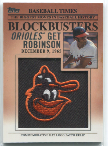 2012 Topps Blockbusters #BP-3 Frank Robinson Patch Card