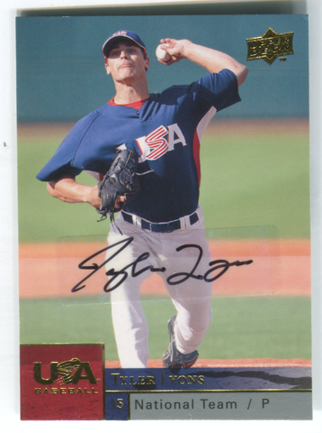 2009 Upper Deck USA #USAB-TL Tyler Lyons Autographed Card