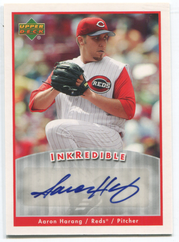 2006 Upper Deck Inkredible #I-AH Aaron Harang Autographed Card