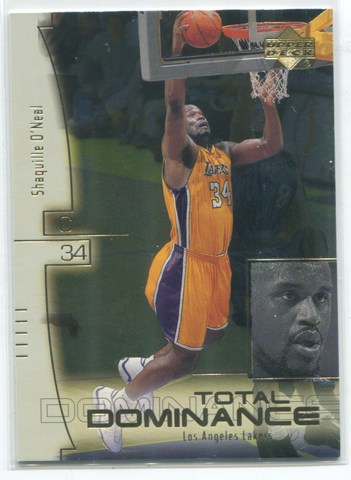 2000 Upper Deck Total Dominance #TD1 Shaquille O`Neal Card