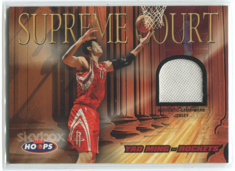 2005 Fleer NBA Hoops Supreme Court #SC/YM Yao Ming Jersey Card