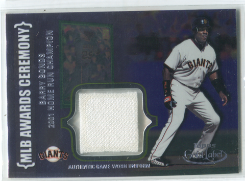 2002 Topps MLB Awards Ceremony #ACR-BB1 Barry Bonds Jersey Card