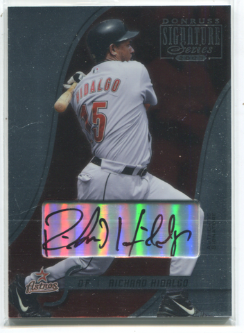 2003 Donruss Signature Series #39 Richard Hidalgo Card