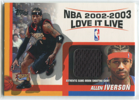 2002-03 Topps NBA Love it Live #LLR-AI Allen Iverson