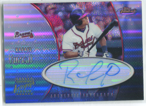 2001 Topps Finest Certified Autograph Issue #FA-RF Rafeal Furcal