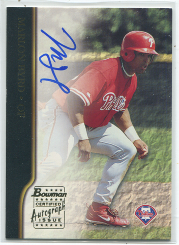 2002 Bowman Certified Autograph Issue #BA-MB Marlon Byrd
