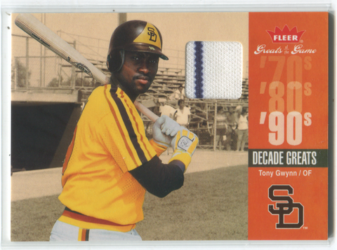 2006 Fleer Greats Of The Game #DEC-TG Tony Gwynn Jersey Card