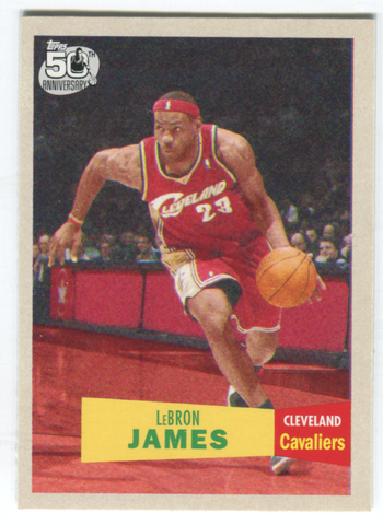 2007 Topps 50th Anniversary #23 Lebron James Card