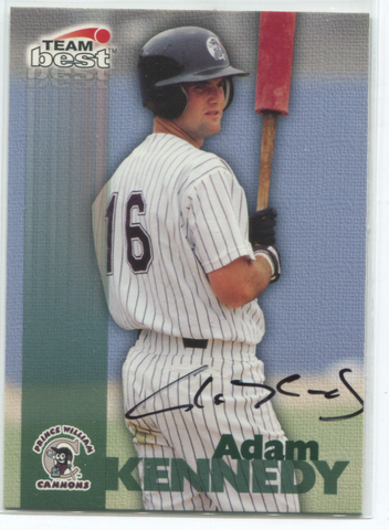 1999 Team Best Adam Kennedy Autographed Card