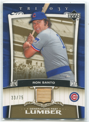 2005 Upper Deck Trilo3y Generations Past Lumber 33/75  #PA-RA Ron Santo