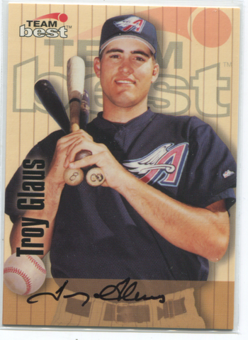 1998 Team Best Troy Glaus Autographed Card