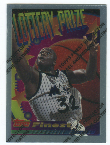 1994-95 Topps Finest Lottery Prize #LP1 Shaquille O'Neal Card