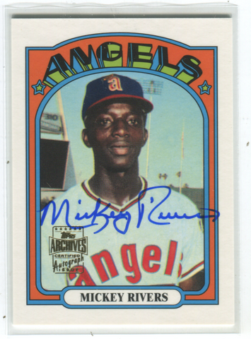 2001 Topps Archives #272 Mickey Rivers Autographed Card