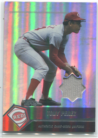 2004 Topps Authentic Game-worn Jersey Card #TP Tony Perez
