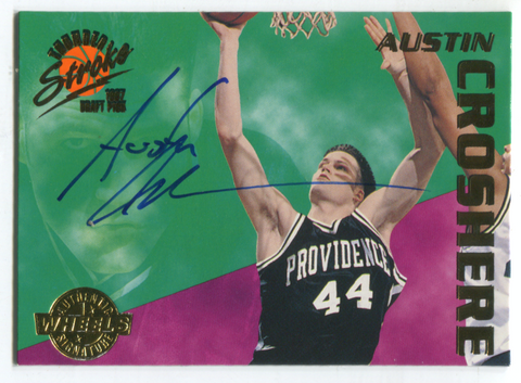 1997 Wheels Sports Thunder Stroke #TS10 Austin Crosshere Autographed Card