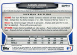 Aaron Judge Unsigned 2013 Bowman Chrome Rookie Card Back