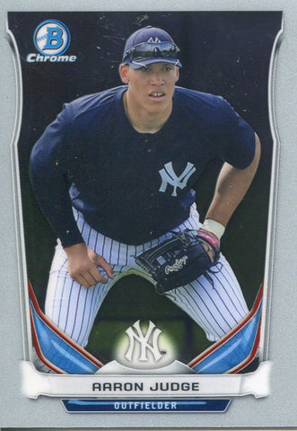 Aaron Judge Unsigned 2017 Bowman Chrome Rookie Card