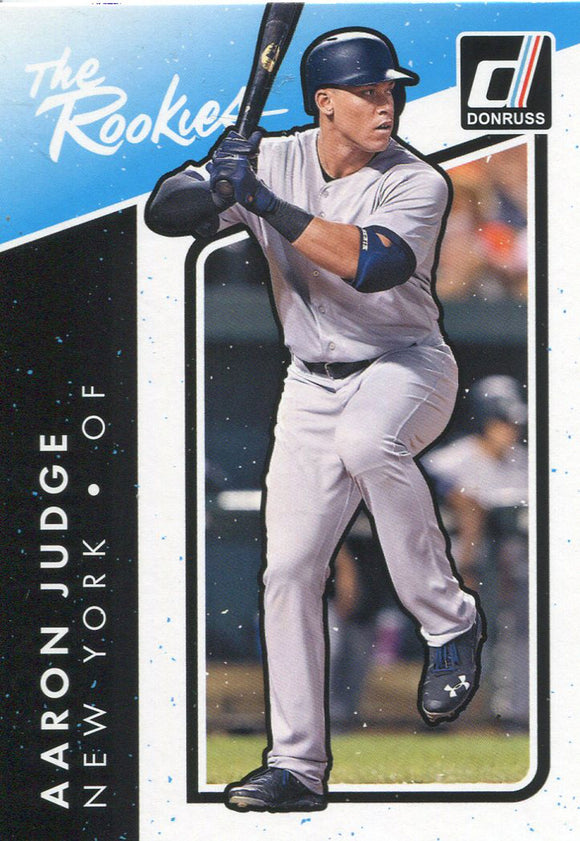 Aaron Judge Unsigned 2017 Donruss Rookie Card
