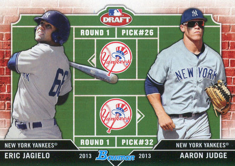 Aaron Judge & Eric Jagielo Unsigned 2013 Bowman Draft Rookie Card