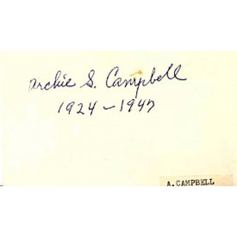 Archie Campbell Autographed / Signed 3x5 Card