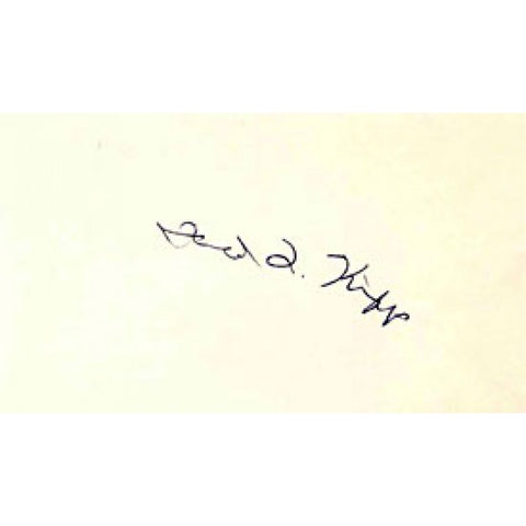 Fred Kipp Autographed / Signed 3x5 Card