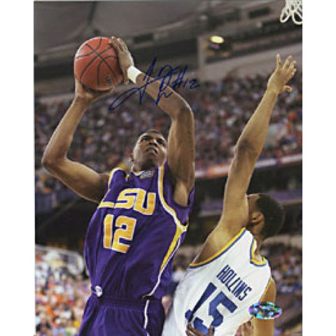 Tyrus Thomas Autographed/Signed Dunkingt with LSU 8x10 Photo