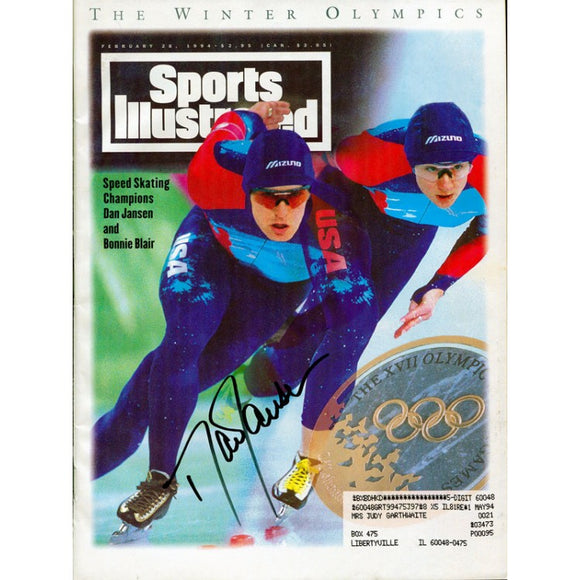 Dan Janson Autographed / Signed Sports Illustrated Magazine February 28 1994