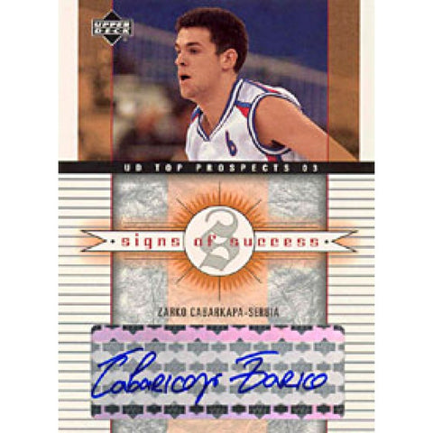 Zarco Cabarkapa Autographed / Signed 2003 Upper Deck Top Prospects Card #SS-ZC