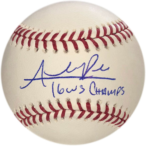 "Addison Russell ""16 WS Champs"" Autographed Baseball"