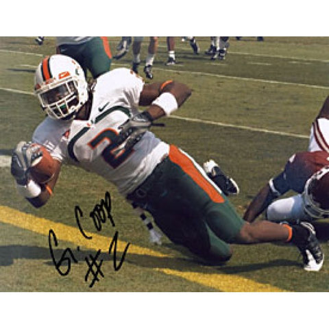 Graig Cooper Autographed / Signed Football 8x10 Photo