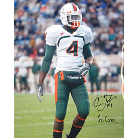 Aldarius Johnson Autographed / Signed Miami Hurricanes 16x20 Photo