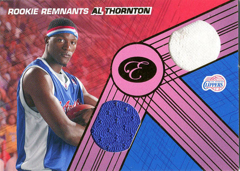 Al Thornton Unsigned 2008-09 Bowman Elevation Jersey Card