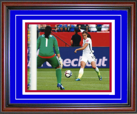 Alex Morgan Unsigned Framed Shooting 8x10 Photo