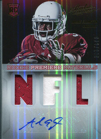 Andre Ellington Autographed 2013 Absolute Football Rookie Jersey Card