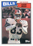 Andre Reed Autographed 1987 Topps Card