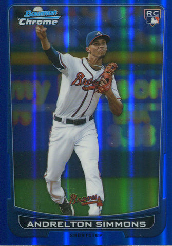 Andrelton Simmons Unsigned 2012 Bowman Chrome Refractor Rookie Card
