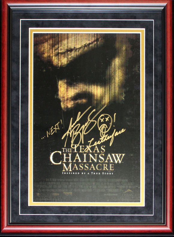 Andrew Bryniarski Autographed Framed Multi Inscribed Texas Chainsaw Massacre Movie Poster