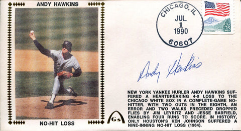 Andy Hawkins Autographed Gateway First Day Cover