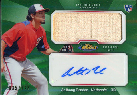 Anrthony Rendon Autographed 2013 Topps Finest Bat Card