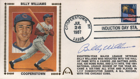 Billy Williams Autographed July 26, 1987 First Day Cover